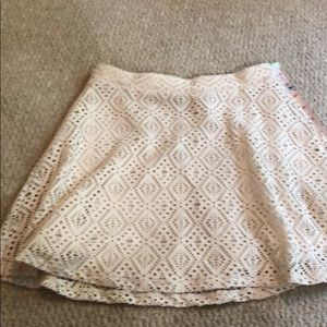Cape Juby Knit cream skirt